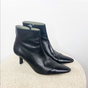 Cole Haan | Leather Pointed Toe Ankle Booties